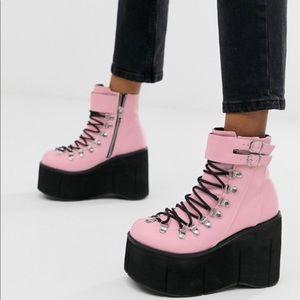 Demonia Pink Platform Boots